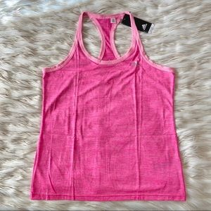 Adidas Pink Racer Back Athletic Tank Top